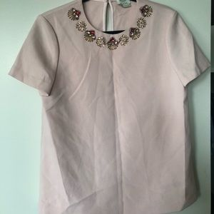 Kate Spade jeweled neckline top